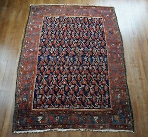 Antique Persian Hamadan Malayer Rug 4 8 X6