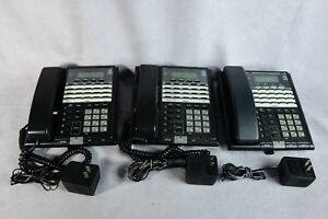 Set Of 3 Vintage Lucent Technology 4 line Phone Model 854 W Power Supply 691