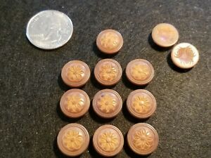 Lot Of 12 Antique Carved Buttons