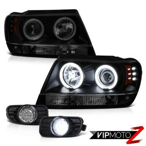 1999 2000 2001 Jeep Grand Cherokee 4x4 Ccfl Halo Head Light Brightest Led Tail