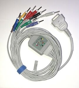 Ge Marquette Mac 500 Mac 1200 Ekg Cable 10 Leads Needles Aha Same Day Shipping
