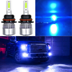 9007 Hb5 Cob Led Headlight Hi low Beams Conversion Kit Ice Blue 8000k 72w 7600lm