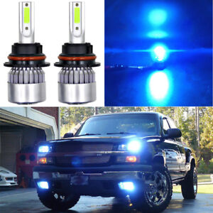 9007 Hb5 8000k Ice Blue 72w 7600lm Cob Led Headlight Conversion Kit Hi low Beams