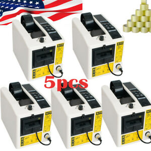 5x Portable Automatic Tape Dispensers Adhesive Tape Cutter Packaging Machine Led