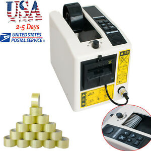 Auto Tape Dispensers Adhesive Tape Selectable Cutter Packaging Machine 3 Led