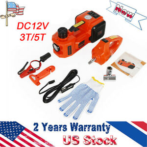Dc12v 3t 5t Electric Hadraulic Jack With Impact Wrench For Car Off Road Vehicles