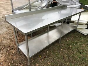 Stainless Steel 8 X 31 Heavy Duty Commercial Prep Work Table Bottom Shelf Nsf