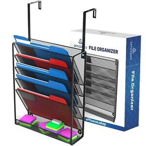 Hanging Organizer Cubicle File Holder Office Cubical Wall Mount Folder Stor