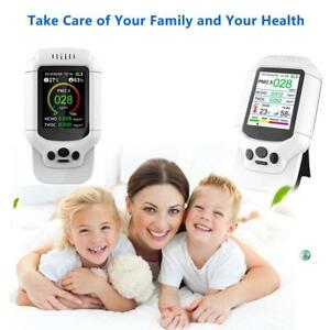 Air Quality Detector Lcd Indoor Formaldehyde Monitor Hcho Pm1 0 Pm2 5 Pm10 Tvoc