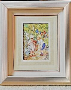 Handsome Architectural Shadow Box Wood Frame Soft Rose Graduated Trim 2 Sizes