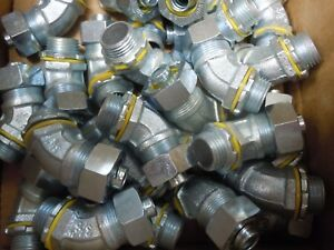 Hubbell 4a234 3 8 Electrical Elbow Conduit Lot Of 50 Pieces