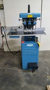 Challenge L11 3a 3 spindle Paper Drilling Machine Used Working Tooling 1116