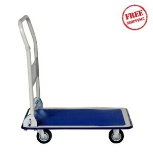 Folding Platform Dolly Cart With Wheels Hand Truck Trolley Heavy Duty Home Use