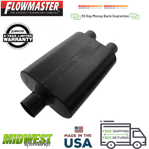 9425452 Flowmaster Super 44 Muffler 2 5 Center Inlet 2 25 Dual Outlet