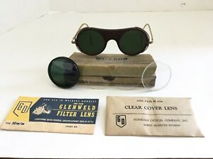 Vintage Willson Welding Goggles Green Goggles Original Box Accessories