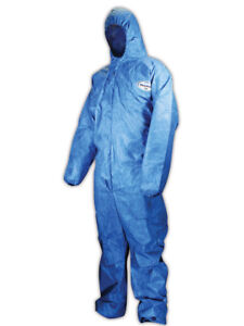 Kimberly clark Kleenguard A60 Hooded Disposable Coveralls Large 24 Pack