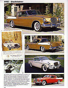 1957 Studebaker Golden Hawk Silver Hawk Article Must See