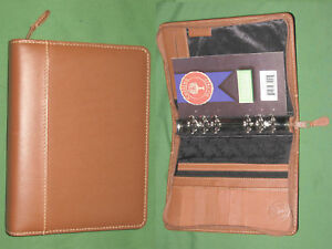 Compact 1 0 Brown Leather Collins Planner Binder Organizer Franklin Covey