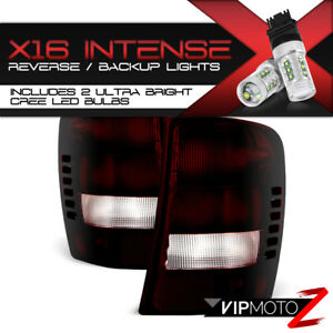 Cree Led Reverse For 99 04 Jeep Grand Cherokee Factory Style Tail Lights Set
