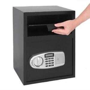Digital Safe Box Depository Drop Deposit Front Load Cash Vault Lock Dependable