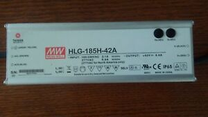 Mean Well New Hlg 185h 42a 42v 150w Power Supply Led Driver Type Grow Light Pack