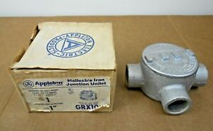 1 Nib Appleton Grx100 1 Gr Conduit Outlet Box Explosion Proof For Hazardous Loc
