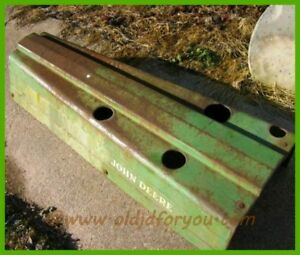 Am2971t John Deere M Mt Mc Mi 40 420 And 320 Hood Nice Hood With Pins