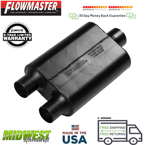 425403 Flowmaster 40 Series Muffler 2 5 Dual Inlet 3 0 Center Outlet