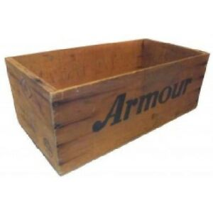 Vintage Armour Corned Mutton Wooden Advertising Crate Shipping Box
