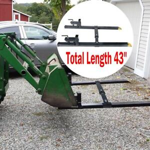 Clamp On Pallet Forks 30 43 1500lbs Loader Bucket Skidsteer Tractor Chain Us