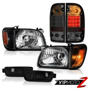 For 01 04 Toyota Tacoma Prerunner Taillights Infinity Black Headlights Bumper