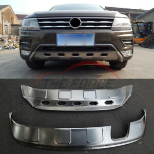 Protector For 2017 Vw Tiguan Low Front rear Bumper Stainless Skid Plate Guard