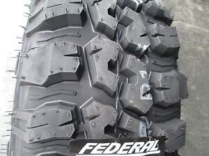 4 New 265 75r16 Inch Federal Mud Tires 265 75 16 2657516 75r R16 M T Mt 10 Ply