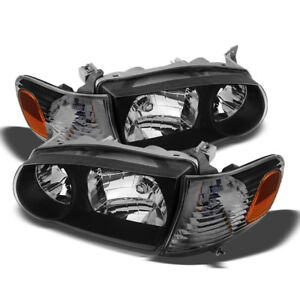 For 01 02 Toyota Corolla Ce le Black Amber Headlight Signal Assembly Left right