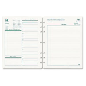Original Dated Daily Planner Refill January december 8 1 2 X 11 2018