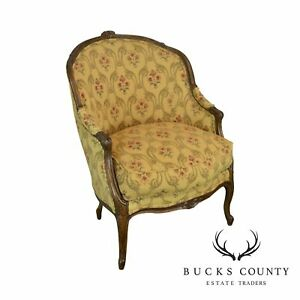 Lillian August French Louis Xv Style Whitney Bergere Club Chair