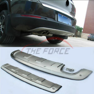 Stainless Board For Vw Tiguan 2016 Front rear Bumper Upper Skid Plate Guard