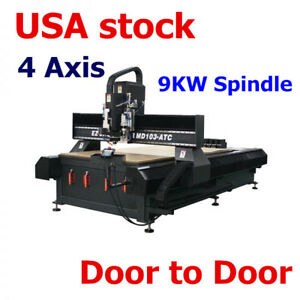 Usa 4axis Usb Dual Ball Screw Cnc Router With 9kw Spindle 59in X 118in