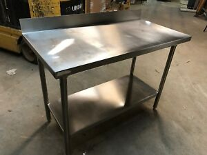 Stainless Steel 48 X 24 Heavy Duty Commercial Prep Work Table Bottom Shelf Nsf