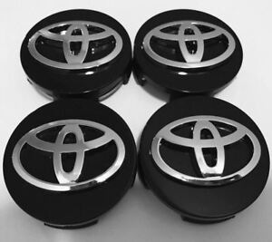 4x Black Chrome Wheel Center Hub Caps Rim 62mm 2 5 Toyota Camry Avalon Matrix