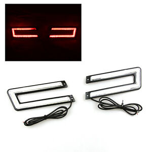 U Shaped C Shaped Cob Super Red Led Drl Daytime Running Lights Diy For Bimmer