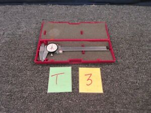 Starrett 120a 6 Dial Caliper 001 Military Measure Tool Machine Precision Used