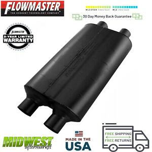 530504 Flowmaster 50 Series Big Block Muffler 3 0 Dual Inlet 2 5 Dual Outlet