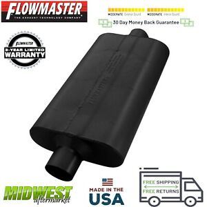 942550 Flowmaster 50 Delta Flow Muffler 2 5 Center Inlet 2 5 Center Outlet