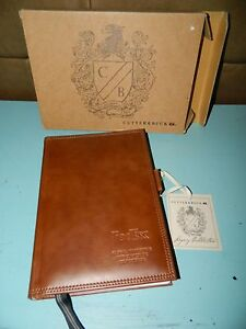 Cutter Buck Legacy Collection Executive Leather Travel Paper Pad Notebook