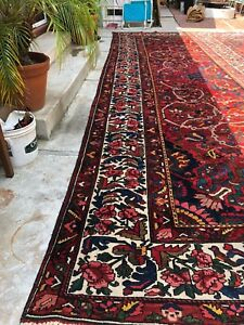 Antique Authentic Vintage Old Bakhtiari Persian Rug Palace Sized 13 2x19 5