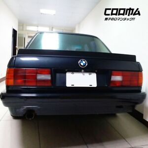 Painted Lrs L Type For Bmw E30 3 series 4dr Sedan Rear Trunk Spoiler Wing