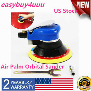 6 Air Palm Random Orbital Sander 10000 Rpm 90psi Hand Sanding Pneumatic Round