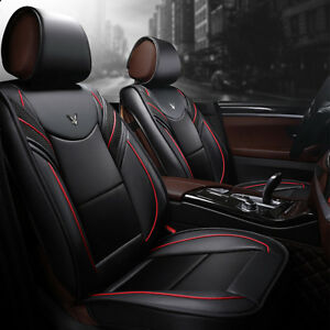6d Full Surrounded Leather 5 Seat Car Seat Cover Front Rear Cushion Protection