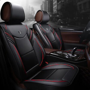 Luxury Pu Leather Car Cushion Seat Covers Full Surrounded Front Rear 5 seats